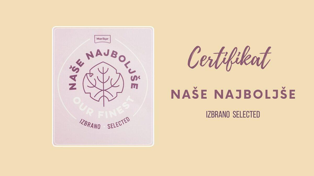 certifikat naše najboljše za želodovo kavo in želodovo moko